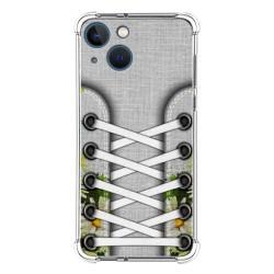 Funda Silicona Antigolpes compatible con Iphone 13 Mini (5.4) diseño Zapatillas 08 Dibujos
