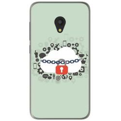 Funda Gel Tpu para Alcatel U5 (4G) / Orange Rise 52 Diseño Nube Dibujos