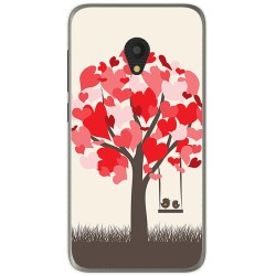 Funda Gel Tpu para Alcatel U5 (4G) / Orange Rise 52 Diseño Pajaritos Dibujos