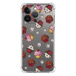 Funda Silicona Antigolpes compatible con Iphone 13 Pro (6.1) diseño Muffins Dibujos