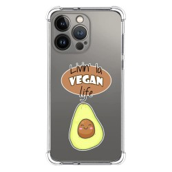 Funda Silicona Antigolpes compatible con Iphone 13 Pro (6.1) diseño Vegan Life Dibujos