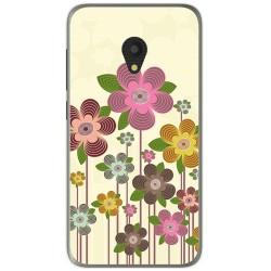 Funda Gel Tpu para Alcatel U5 (4G) / Orange Rise 52 Diseño Primavera En Flor  Dibujos
