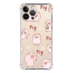 Funda Silicona Antigolpes compatible con Iphone 13 Pro Max (6.7) diseño Cerdos Dibujos