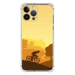 Funda Silicona Antigolpes compatible con Iphone 13 Pro Max (6.7) diseño Ciclista Dibujos