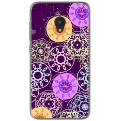 Funda Gel Tpu para Alcatel U5 (4G) / Orange Rise 52 Diseño Radial Dibujos