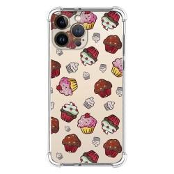 Funda Silicona Antigolpes compatible con Iphone 13 Pro Max (6.7) diseño Muffins Dibujos