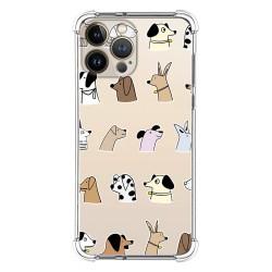 Funda Silicona Antigolpes compatible con Iphone 13 Pro Max (6.7) diseño Perros Dibujos