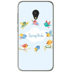 Funda Gel Tpu para Alcatel U5 (4G) / Orange Rise 52 Diseño Spring Birds Dibujos