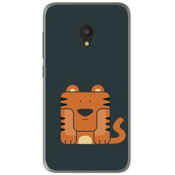Funda Gel Tpu para Alcatel U5 (4G) / Orange Rise 52 Diseño Tigre Dibujos