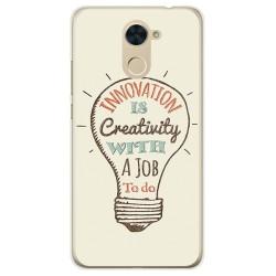 Funda Gel Tpu para Huawei Y7 Diseño Creativity Dibujos