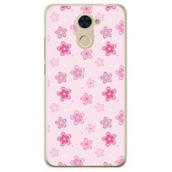 Funda Gel Tpu para Huawei Y7 Diseño Flores Dibujos