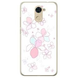 Funda Gel Tpu para Huawei Y7 Diseño Flores Minimal Dibujos
