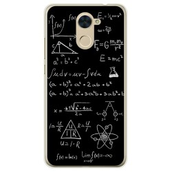 Funda Gel Tpu para Huawei Y7 Diseño Formulas Dibujos