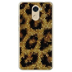 Funda Gel Tpu para Huawei Y7 Diseño Leopardo Dibujos