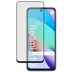 Protector Cristal Templado Completo 5D Full Glue Negro compatible con Xiaomi Redmi 10 Vidrio