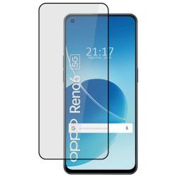 Protector Cristal Templado Completo 5D Full Glue Negro compatible con Oppo Reno 6 5G Vidrio