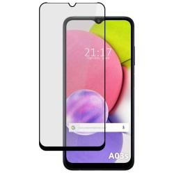 Protector Cristal Templado Completo 5D Full Glue Negro compatible con Samsung Galaxy A03s Vidrio