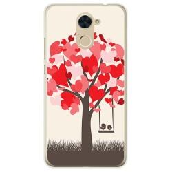 Funda Gel Tpu para Huawei Y7 Diseño Pajaritos Dibujos