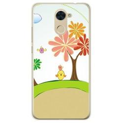 Funda Gel Tpu para Huawei Y7 Diseño Primavera Dibujos