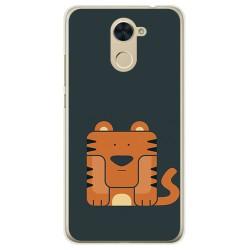 Funda Gel Tpu para Huawei Y7 Diseño Tigre Dibujos