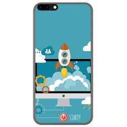 Funda Gel Tpu para Leagoo M7 Diseño Cohete Dibujos