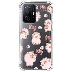 Funda Silicona Antigolpes para Xiaomi 11T 5G / 11T Pro 5G diseño Cerdos Dibujos