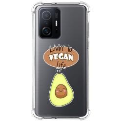 Funda Silicona Antigolpes para Xiaomi 11T 5G / 11T Pro 5G diseño Vegan Life Dibujos