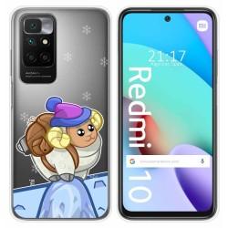 Funda Silicona Transparente para Xiaomi Redmi 10 diseño Cabra Dibujos