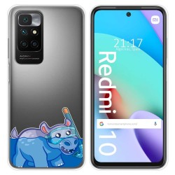 Funda Silicona Transparente para Xiaomi Redmi 10 diseño Hipo Dibujos