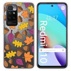 Funda Silicona Transparente para Xiaomi Redmi 10 diseño Otoño Dibujos