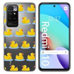 Funda Silicona Transparente para Xiaomi Redmi 10 diseño Pato Dibujos