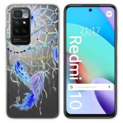 Funda Silicona Transparente para Xiaomi Redmi 10 diseño Plumas Dibujos