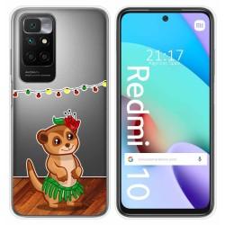Funda Silicona Transparente para Xiaomi Redmi 10 diseño Suricata Dibujos
