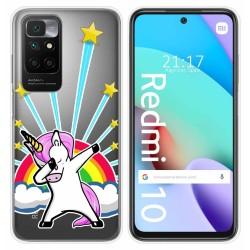 Funda Silicona Transparente para Xiaomi Redmi 10 diseño Unicornio Dibujos