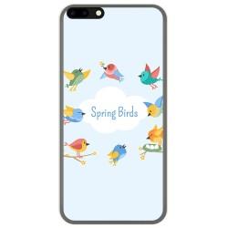 Funda Gel Tpu para Leagoo M7 Diseño Spring Birds Dibujos