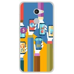 Funda Gel Tpu para Alcatel A3 (4G) Diseño Apps Dibujos