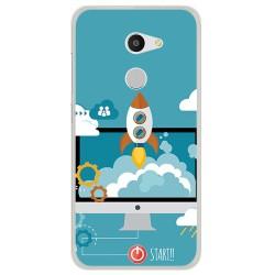 Funda Gel Tpu para Alcatel A3 (4G) Diseño Cohete Dibujos