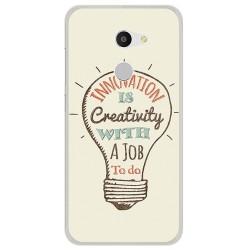 Funda Gel Tpu para Alcatel A3 (4G) Diseño Creativity Dibujos