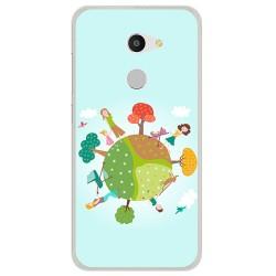Funda Gel Tpu para Alcatel A3 (4G) Diseño Familia Dibujos