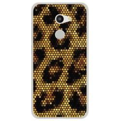 Funda Gel Tpu para Alcatel A3 (4G) Diseño Leopardo Dibujos