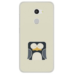 Funda Gel Tpu para Alcatel A3 (4G) Diseño Pingüino Dibujos