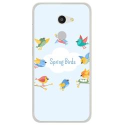 Funda Gel Tpu para Alcatel A3 (4G) Diseño Spring Birds Dibujos