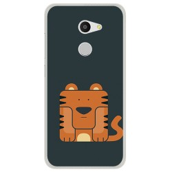 Funda Gel Tpu para Alcatel A3 (4G) Diseño Tigre Dibujos