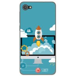 Funda Gel Tpu para Alcatel A5 Led Diseño Cohete Dibujos