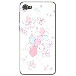 Funda Gel Tpu para Alcatel A5 Led Diseño Flores Minimal Dibujos