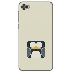 Funda Gel Tpu para Alcatel A5 Led Diseño Pingüino Dibujos