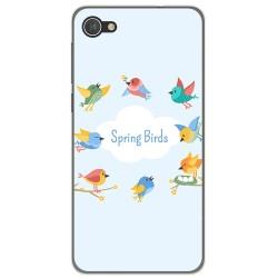 Funda Gel Tpu para Alcatel A5 Led Diseño Spring Birds Dibujos
