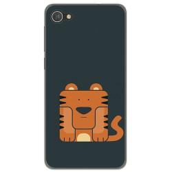 Funda Gel Tpu para Alcatel A5 Led Diseño Tigre Dibujos