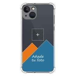 Personaliza tu Funda Silicona AntiGolpes Transparente con tu Fotografía compatible con Iphone 13 (6.1) Dibujo Personalizada