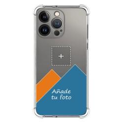 Personaliza tu Funda Silicona AntiGolpes Transparente con tu Fotografía compatible con Iphone 13 Pro (6.1) Dibujo Personalizada
